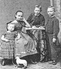 Alida, Anna, Karl und Heinrich Tappenbeck